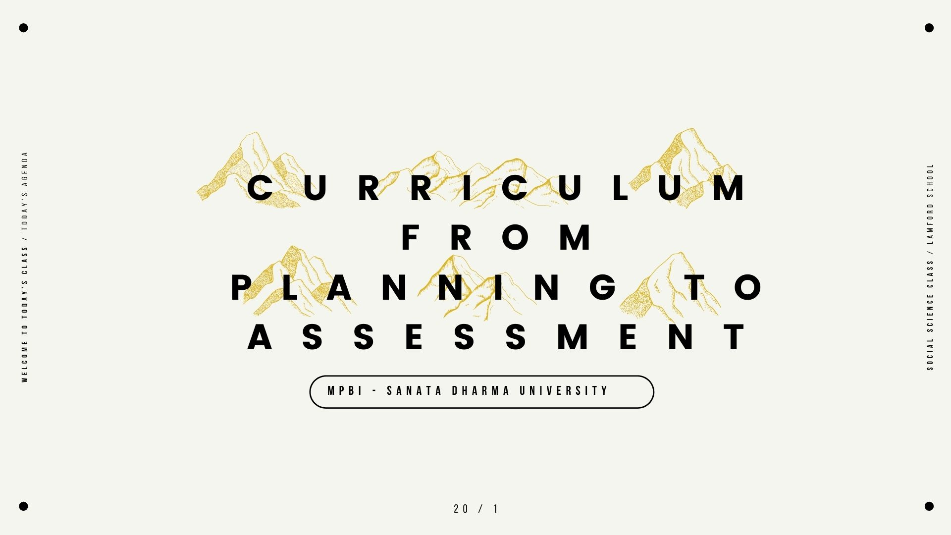 Curriculum: From Planning to Assessment A (MPBI I/2020/2021)